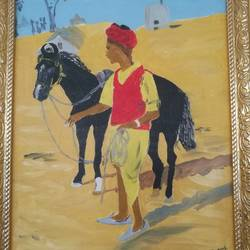 friends, 13 x 17 inch, abhimanyu duggal,paintings for living room,horse paintings,canvas,oil paint,13x17inch,GAL030928849