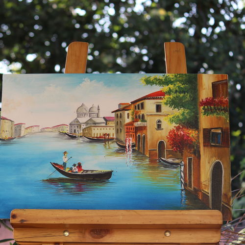 life in waters, 18 x 14 inch, sanjeev kumar g h,paintings,cityscape paintings,paintings for living room,canvas,acrylic color,18x14inch,GAL038298850