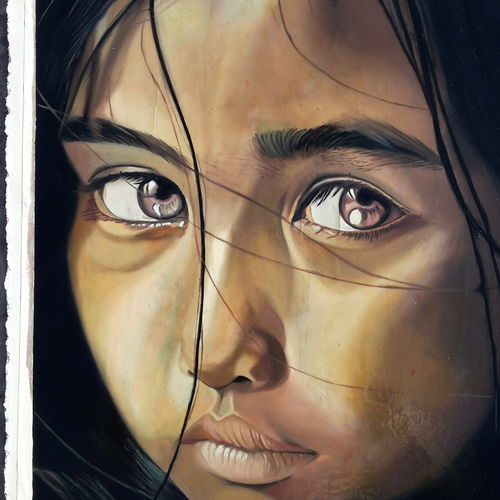 sad girl, 15 x 22 inch, vimal chand,paintings,portrait paintings,canvas board,oil,15x22inch,GAL038618878