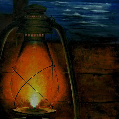 the lantern, 20 x 31 inch, seby augustine,conceptual paintings,canvas,acrylic color,20x31inch,GAL0150890
