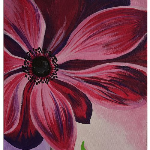 pink delight, 12 x 15 inch, menaka saravanan,paintings,flower paintings,paintings for bedroom,canvas,acrylic color,12x15inch,GAL038558903