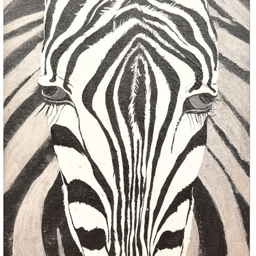 the zebra, 12 x 16 inch, menaka saravanan,paintings,animal paintings,paintings for living room,canvas,acrylic color,12x16inch,GAL038558905