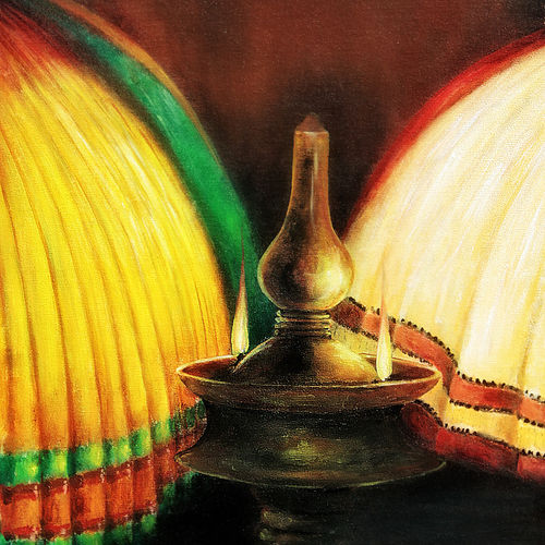 kathakali, 30 x 18 inch, seby augustine,conceptual paintings,paintings for living room,canvas,acrylic color,30x18inch,GAL0150892