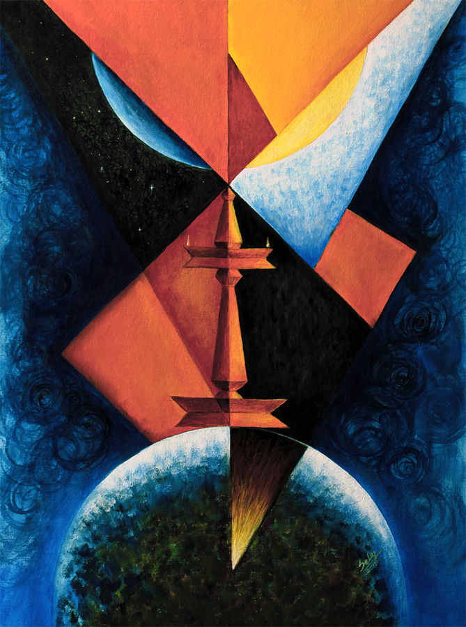 swayam prabha, 30 x 20 inch, seby augustine,abstract paintings,paintings for living room,canvas,acrylic color,30x20inch,GAL0150894