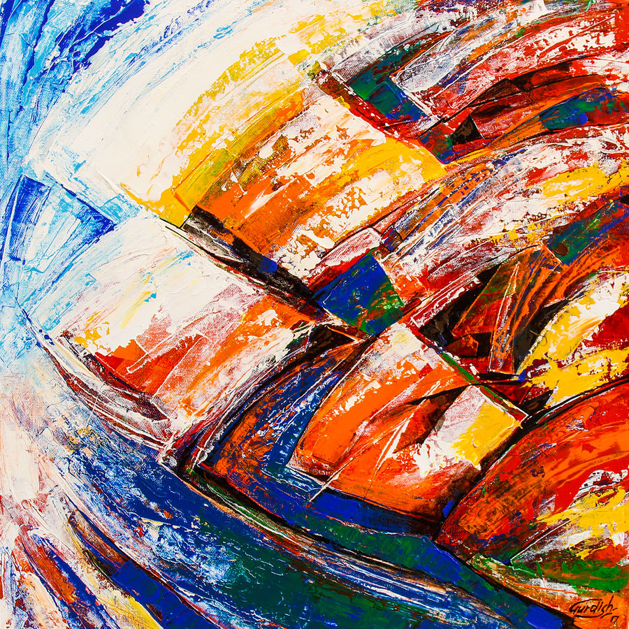 flow of dreams 7, 18 x 18 inch, gurdish pannu,abstract paintings,paintings for bedroom,paintings for dining room,paintings for living room,paintings for office,canvas,acrylic color,18x18inch,GAL025378943