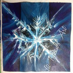 snowflake , 9 x 12 inch, iti trehan,paintings,abstract paintings,paintings for office,canvas,acrylic color,9x12inch,GAL036658944