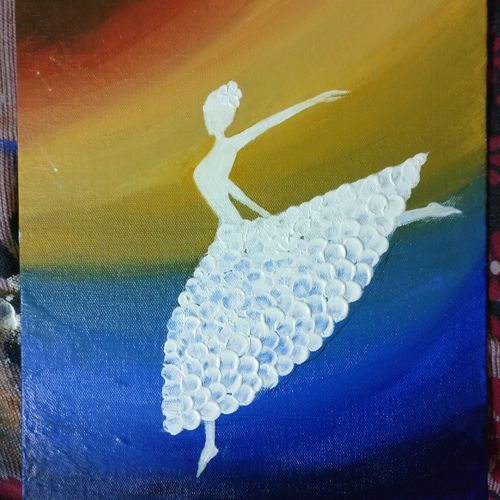 happy soul, 10 x 12 inch, suchita gabhane,paintings,figurative paintings,paintings for bedroom,canvas,acrylic color,10x12inch,GAL038518964
