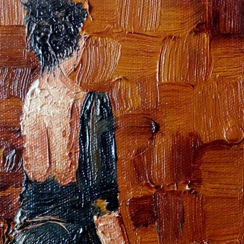brown girl, 4 x 6 inch, shivani kamblekar,paintings,abstract paintings,paintings for living room,canvas,oil,4x6inch,GAL038078970