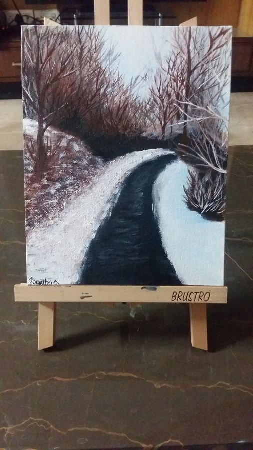 Buy Snow Landscape Painting At Lowest Price By Poojitha Srinath