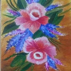 flowers, 6 x 8 inch, poojitha srinath,nature paintings,paintings for living room,canvas,acrylic color,6x8inch,GAL039048985Nature,environment,Beauty,scenery,greenery
