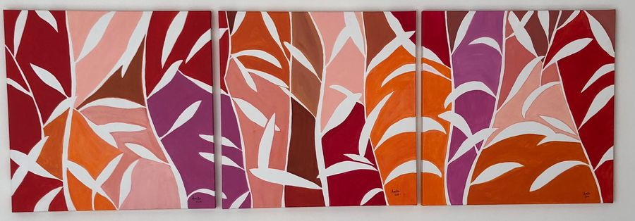 foliage, 90 x 30 inch, amita .,paintings,abstract paintings,paintings for living room,canvas,acrylic color,90x30inch,GAL039168988