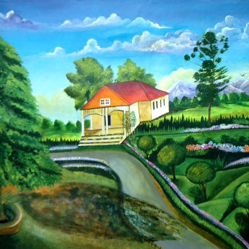 peace paradise, 40 x 28 inch, neeraj parswal,landscape paintings,paintings for dining room,paintings for living room,paintings for bedroom,paintings for office,canvas,acrylic color,40x28inch,GAL019