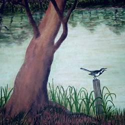 niribili, 24 x 18 inch, basudeb pal,nature paintings,paintings for bedroom,canvas,oil paint,24x18inch,GAL0432902Nature,environment,Beauty,scenery,greenery
