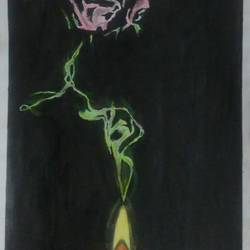 flower, 12 x 16 inch, akshay patil,paintings for living room,flower paintings,paper,mixed media,12x16inch,GAL036639040