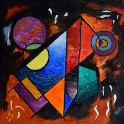 symmetry, 15 x 15 inch, saurabh jathar,paintings,abstract paintings,paintings for living room,canvas,mixed media,15x15inch,GAL039649124