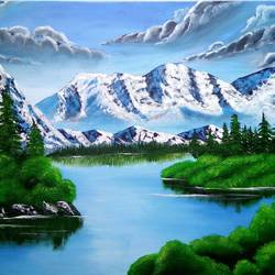 beauty peace of nature , 32 x 24 inch, siddhi munot,landscape paintings,paintings for office,canvas,acrylic color,32x24inch,GAL039389129