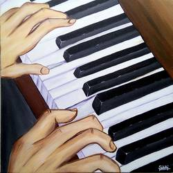 musical instrument, 20 x 20 inch, siddhi munot,paintings,figurative paintings,paintings for bedroom,canvas,acrylic color,20x20inch,GAL039389132