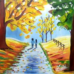 love in nature  , 18 x 18 inch, siddhi munot,love paintings,paintings for bedroom,canvas,oil,18x18inch,GAL039389133heart,family,caring,happiness,forever,happy,trust,passion,romance,sweet,kiss,love,hugs,warm,fun,kisses,joy,friendship,marriage,chocolate,husband,wife,forever,caring,couple,sweetheartNature,environment,Beauty,scenery,greenery