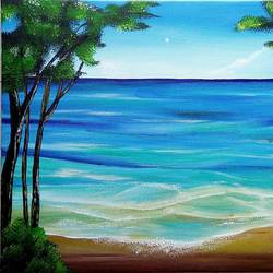 beach, 21 x 16 inch, siddhi munot,paintings,landscape paintings,paintings for living room,canvas,acrylic color,21x16inch,GAL039389137