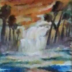 scenary, 5 x 17 inch, kalpana  tambe,nature paintings,canvas,acrylic color,5x17inch,GAL024749144Nature,environment,Beauty,scenery,greenery