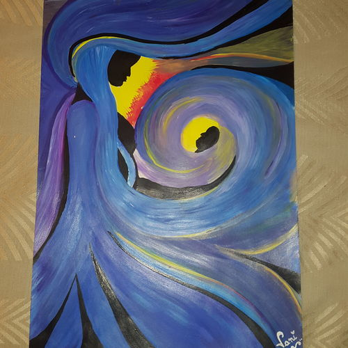 mother and child, 12 x 17 inch, vaishali kapur,paintings,abstract paintings,paintings for bedroom,ivory sheet,acrylic color,12x17inch,GAL039589146