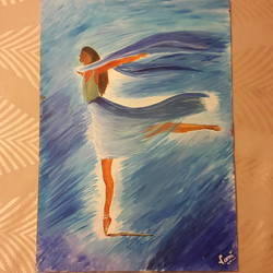 spiritual dance, 12 x 17 inch, vaishali kapur,paintings,figurative paintings,paintings for living room,ivory sheet,acrylic color,12x17inch,GAL039589150