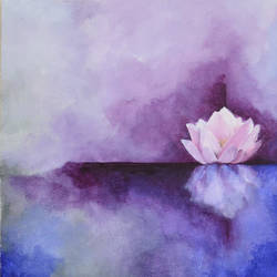 mystic lotus ii, 15 x 15 inch, mitisha vakil,paintings,abstract paintings,paintings for living room,canvas,acrylic color,15x15inch,GAL026419157