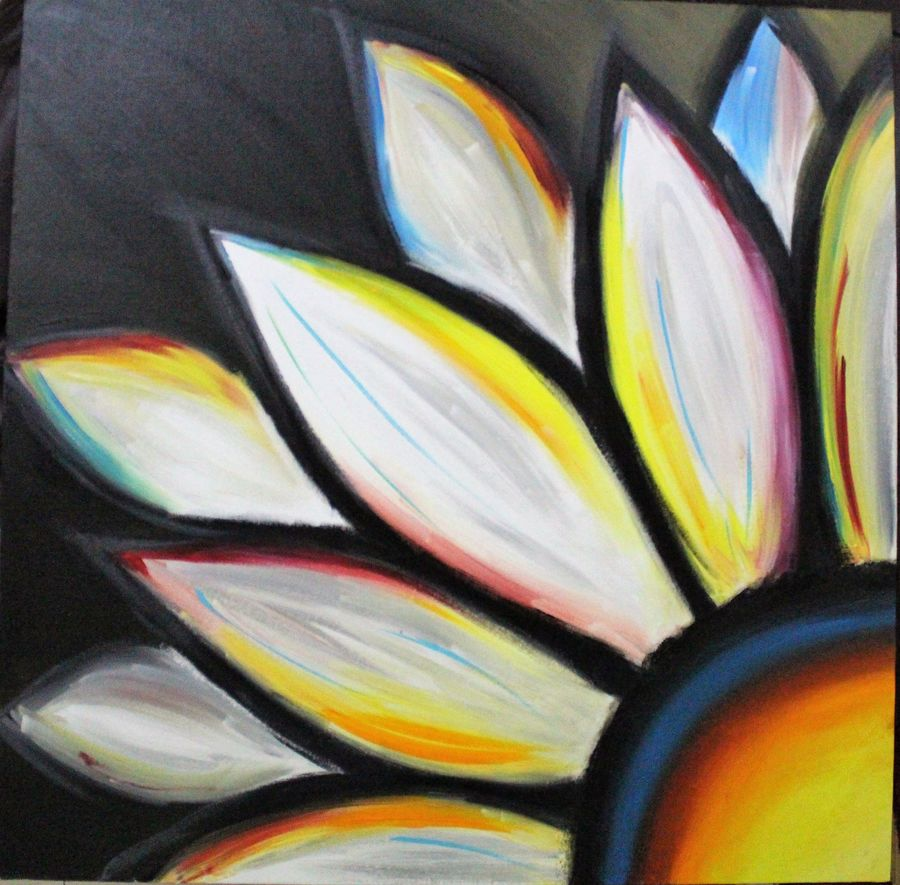 floraldesign, 20 x 20 inch, amey  m,paintings,art deco paintings,paintings for living room,canvas,acrylic color,20x20inch,GAL039789171