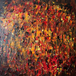 fire heavy texture abstract, 15 x 15 inch, satyajeet vaidya,paintings,abstract paintings,paintings for living room,canvas board,acrylic color,15x15inch,GAL039929189