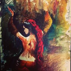freedom, 11 x 15 inch, thejashwini v p,conceptual paintings,paintings for living room,vertical,canvas,oil paint,11x15inch,GAL040199196