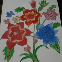floral water colour, 12 x 14 inch, suvashree kundu,paintings,flower paintings,paintings for living room,thick paper,watercolor,12x14inch,GAL034639270