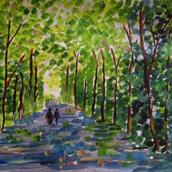 the forest, 16 x 12 inch, abhik mahanti,paintings,landscape paintings,canvas,acrylic color,16x12inch,GAL040449282