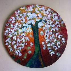 magnolia, 18 x 18 inch, nitha sashi,paintings,flower paintings,paper,acrylic color,18x18inch,GAL036309317