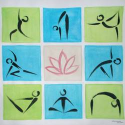 yoga, 15 x 15 inch, nitesh suthar,paintings,figurative paintings,paintings for living room,drawing paper,watercolor,15x15inch,GAL08469335