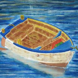 let's go to boating, 13 x 11 inch, dhruv dixit,paintings,landscape paintings,paintings for living room,paper,poster color,13x11inch,GAL020689339