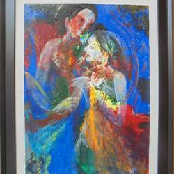 couple, 18 x 24 inch, sakib khan,paintings,abstract paintings,paintings for bedroom,canvas,acrylic color,18x24inch,GAL033179386