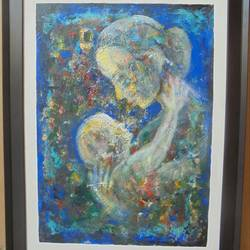 affection, 18 x 24 inch, sakib khan,paintings,abstract paintings,paintings for bedroom,canvas,acrylic color,18x24inch,GAL033179419