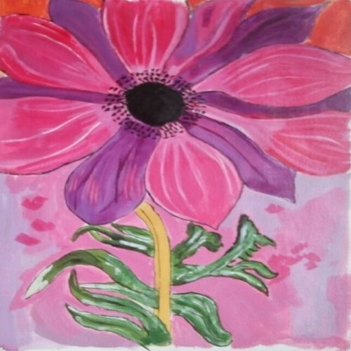 the flower, 12 x 16 inch, abhik mahanti,paintings,flower paintings,paintings for office,canvas,acrylic color,12x16inch,GAL040449439