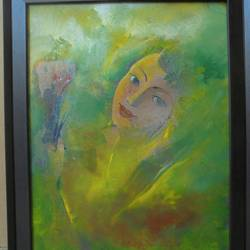 beauty, 16 x 20 inch, sakib khan,paintings,abstract paintings,paintings for bedroom,canvas,acrylic color,16x20inch,GAL033179443