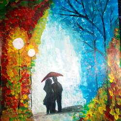 nature walk, 11 x 16 inch, kajal  sharma,nature paintings,paintings for bedroom,vertical,thick paper,acrylic color,11x16inch,GAL035729459Nature,environment,Beauty,scenery,greenery