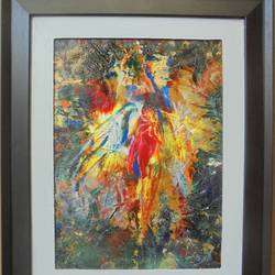 oneness, 14 x 18 inch, sakib khan,paintings,abstract paintings,paintings for living room,canvas,acrylic color,14x18inch,GAL033179461