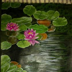 realistic, 8 x 12 inch, ganta sri chandana,paintings,flower paintings,paintings for living room,rice paper,acrylic color,8x12inch,GAL041619526