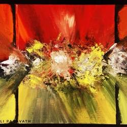 light, 24 x 16 inch, jiril jose,paintings,abstract paintings,paintings for living room,canvas,acrylic color,24x16inch,GAL041779539