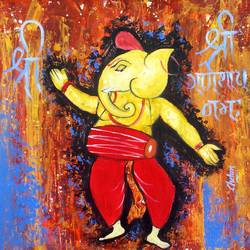 kapila-2, 15 x 15 inch, chetan katigar,figurative paintings,paintings for living room,canvas,oil,15x15inch,GAL0266954