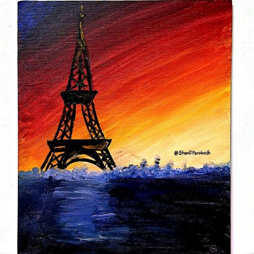 tower, 10 x 12 inch, jiril jose,paintings,portrait paintings,paintings for office,canvas,acrylic color,10x12inch,GAL041779541