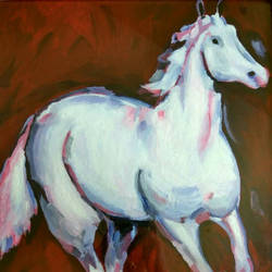 horse, 15 x 17 inch, sujata mohite,paintings,horse paintings,paintings for living room,thick paper,acrylic color,15x17inch,GAL041929558