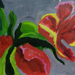 the flower2, 11 x 9 inch, abhik mahanti,paintings,flower paintings,paintings for office,canvas,acrylic color,11x9inch,GAL040449582