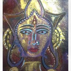 contemporary , 12 x 16 inch, jyothi navada,paintings for office,figurative paintings,religious paintings,canvas,acrylic color,12x16inch,GAL0529586