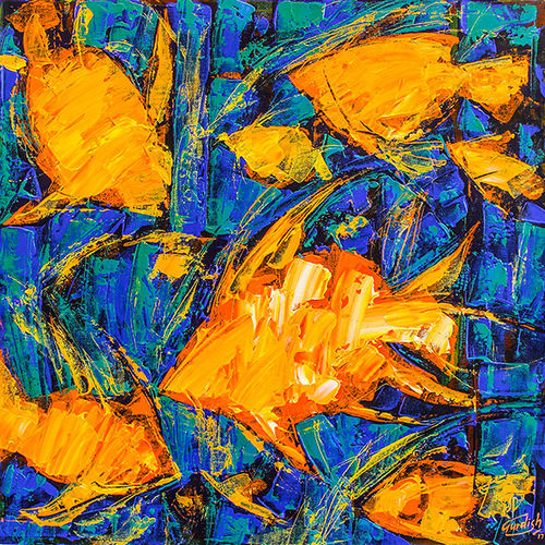 flow of dreams 8, 18 x 18 inch, gurdish pannu,paintings,abstract paintings,paintings for dining room,canvas,acrylic color,18x18inch,GAL025379604
