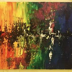journey called life, 48 x 12 inch, shubhangi singh srivastava,paintings,abstract paintings,paintings for dining room,canvas,acrylic color,48x12inch,GAL041139634